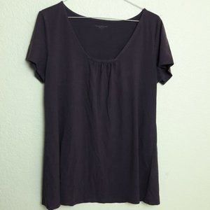 Eileen Fisher Eggplant Square Neck Top Viscose M
